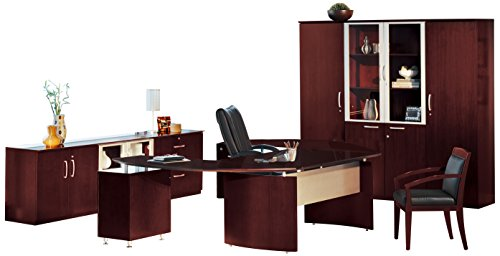 (Safco Products NT20CRY Napoli Series Suite #20 Desk, Sierra Cherry Veneer)