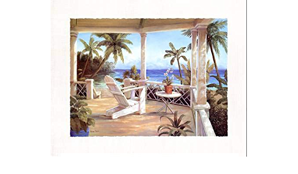 Tropical Porch I By Vivian Flasch 22x28 Inch Art Print Poster Posters Prints