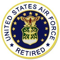 Amazon air force retired lapel pin or hat pin clothing air force retired lapel pin or hat pin publicscrutiny Choice Image