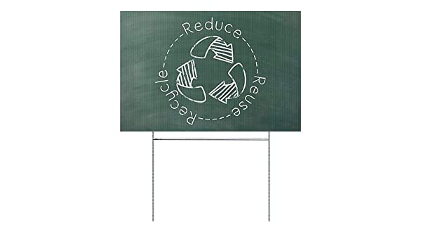 Paper 36x24 Green Chalkboard Premium Brushed Aluminum Sign Recycle CGSignLab 2540187/_5mbsw/_36x24/_None