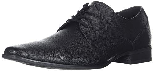 Calvin Klein Men's Brodie Oxford Shoe, Black Small Tumbled Leather, 12 M US