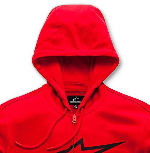 Coupe Pull Alpinestars black Imprimé Red Moderne Zippé Fleece Homme Ageless Avec Ii Logo wqw4XAFRa