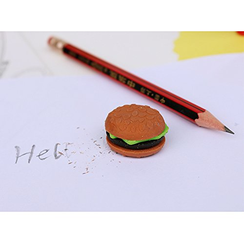 LoveInUSA Junk Food Theme Erasers Simulated Fast Food Rubber Set of 5,Cola Random Color by LoveInUSA (Image #5)