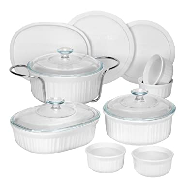 CorningWare 1083955 French 14-Piece Bakeware Set, White