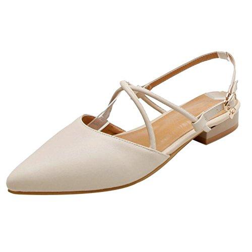 RAZAMAZA Chaussures Femmes Talons 1 Bas Beige vvSfxqrn4w