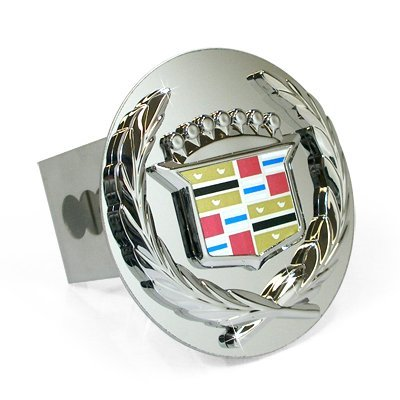 Au-tomotive Gold Chrome Logo Tow Hitch Cover Plug for Cadillac - Old Logo by Au-TOMOTIVE GOLD