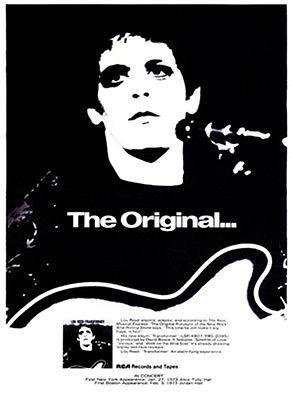 Lou Reed - Transformer - 1972 - Album Release Promo Poster The Original.