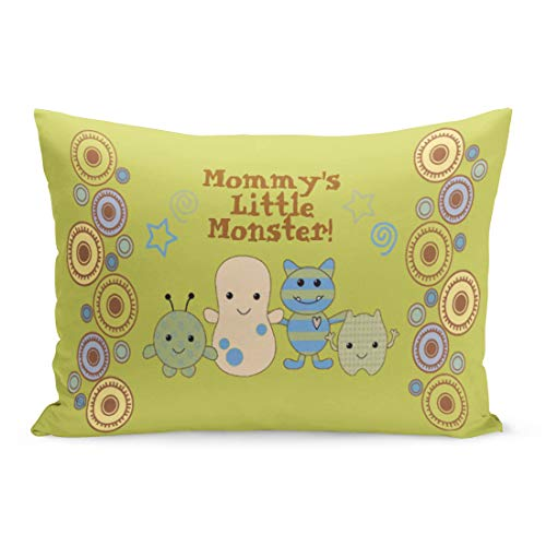 (Aikul Throw Pillow Covers Cocalo Little Monsters for Nursery Peek Boo Baby Peeking Pillow Case Cushion Cover Lumbar Pillowcase Decoration for Couch Sofa Bed Car,20 x 26 inchs )