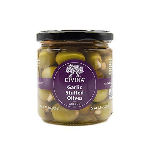 Stuffed Garlic Olives - Divina Garlic Stuffed Olives, 7.8 oz