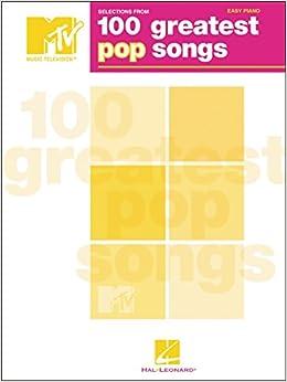 Hal Leonard Tvs 100 Greatest Pop Songs For Easy Piano
