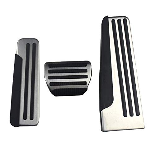 (JessicaAlba Stainless Steel Gas Fuel Brake Foot Rest Pedal Cover Pads Mats for Infiniti Q50 Q60 Q70 QX50 QX70 G25 G35 G37 M25 EX FX Car Styling)