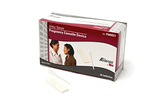 (Pro Advantage PA-P080021 Includes 25 Individually Packaged Urine/Serum hCG Pregnancy Cassette Devices & Droppers (Pack of 25))