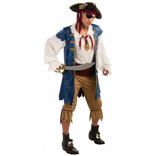 Blue Pirate Costume - Standard - Chest Size -