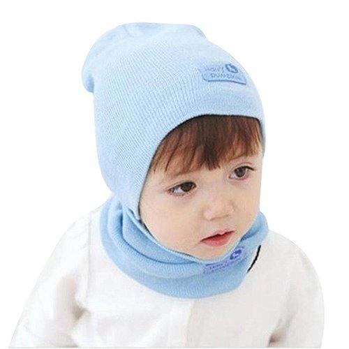 6bea08afd Amazon.com  TOOGOO(R)Winter Children Baby Girls Hat + Scarf Suit ...