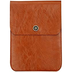 Microfiber Leather Envelope Synthetic Leather Carrying Sleeve, Unique Envelope Pouch / Bag Design Amazon Kindle Cases and Covers brown