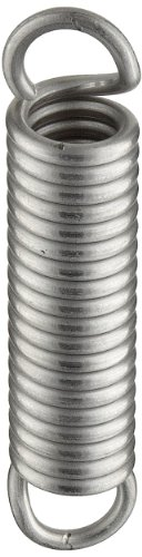 - Extension Spring, 302 Stainless Steel, Inch, 0.75