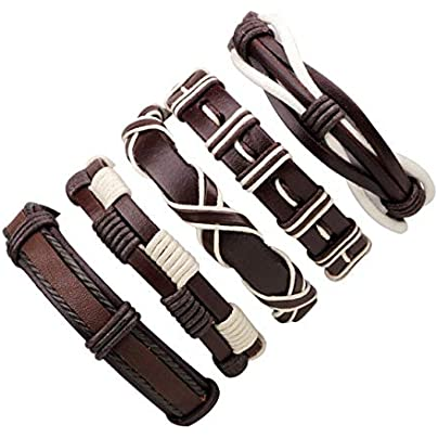 ZUOZUO Leather Wristband Pieces Set Leather Bracelets Men S Charm Bag Female Bracelet Retro Bracelet Bracelet Men S Jewelry Estimated Price £18.99 -