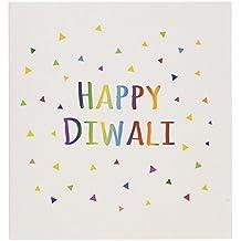Happy Diwali Hindu festival of light celebration - Greeting Cards, 6 x 6 inches, set of 6 (gc_202098_1)