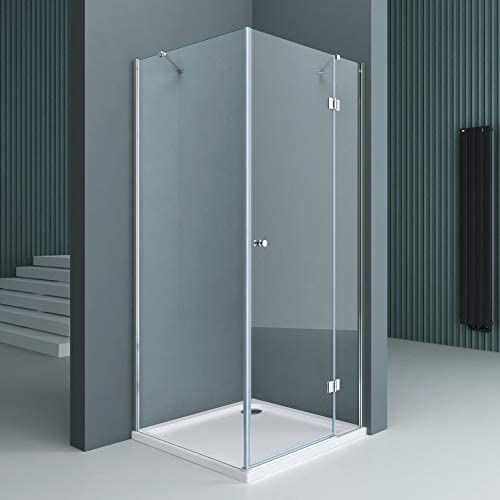 doporro Cabinade ducha de esquina Rav05K 100x120x190cm, Mampara de vidrio de seguridad templado transparente | Revestimiento - Nano: Amazon.es: Bricolaje y herramientas