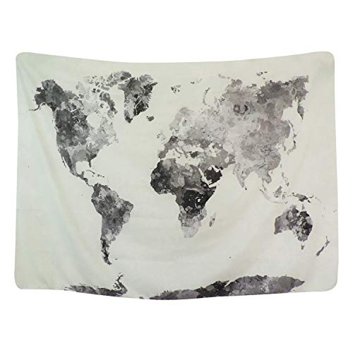 - BLEUM CADE Icejazz Watercolor World Map Tapestry Multi Splatter Abstract Painting Wall Hanging Art for Living Room Bedroom Dorm Home Decor 59