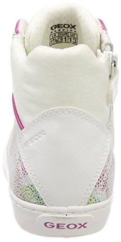 Geox J Kilwi H, Zapatillas Altas Para Niñas Blanco (White/multicolor)