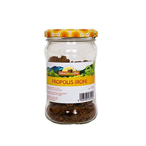Propolis von ImkerPur, roh, antibakteriell, rückstandsfrei, direkt vom Bienenstand (Konventionell, 100 g)