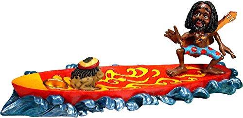 (Nose Desserts Surfing Rasta Dude-Magic Rasta Frog - Stick and Cone Incense Ashcatcher Burner Brand)