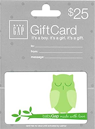 Check your Baby Gap Gift Card Balance. Check the balance of your Baby Gap gift card before you get to the store. Whether you're shopping at your closest Baby Gap or right online, your Baby Gap gift card can cover all the latest and adorable styles for the little ones in your life.