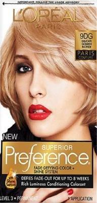 L'Oreal Paris Superior Preference Hair Color - 9DG Paris Couture Delicate Golden Blonde (Pack of 3)
