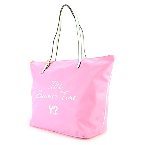 Borsa Shopping grande Y Not Linea Bali colore Rosa