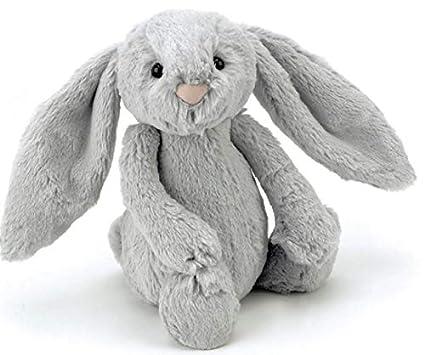 Jellycat BAS3BS - Peluche conejo, color gris