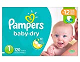 Pampers Baby-Dry Diapers Size 1 120 Count