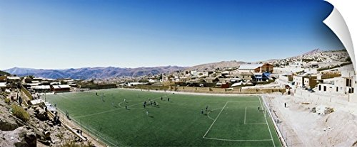 Canvas On Demand Wall Peel Wall Art Print entitled High angle view of a soccer field Potosi Tomas Frias Province Potosi Department Bolivia by Canvas on Demand