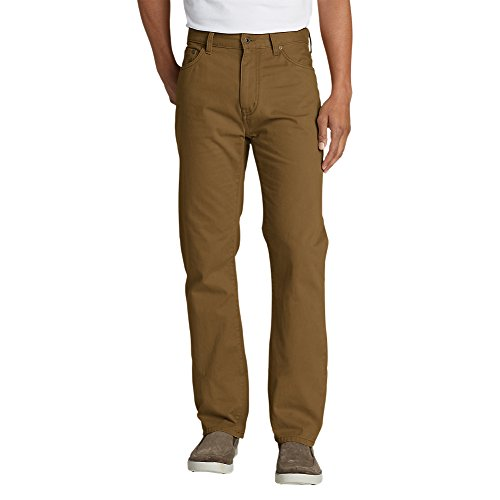 Eddie Bauer Men's Legend Wash Jeans - Straight Fit, Aged Brass Regular 42/30 - Reg Fit Jeans