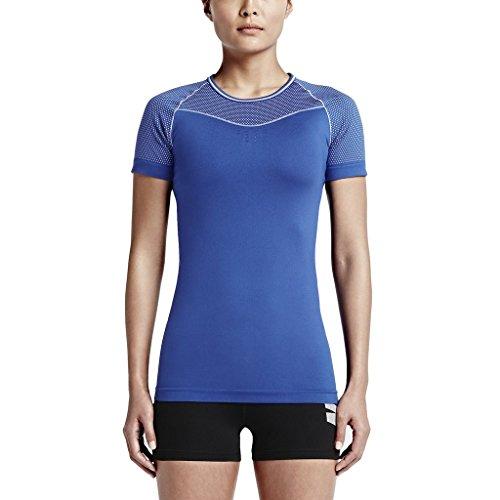 Nike Pro Dri Fit pour femme Chemise Taille grande Bleu Hypercool