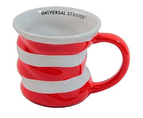 Universal Studios Cat In the Hat Striped Coffee Mug