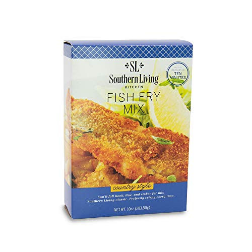 Country Style Fish Fry Mix - Perfectly Seasoned Crispy Fry Mix by Southern Living - Breading, Frying, Batter Mix - 10 oz Box, 1 Fry Mix