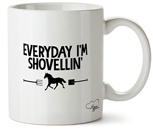 Hippowarehouse-Everyday-Im-Shovellin-Horse-Riding-Printed-Mug-Cup-Ceramic-10oz