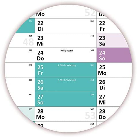 Schuljahreskalender 2020/21 DIN B1 nass abwischbar - gerollt - August 2020 bis August 2021, 13 Monate - Wandkalender 2020/2021