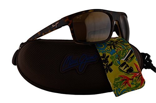 Maui Jim Byron Bay Sunglasses Matte Tortoise w/Polarized Bronze Lens - Wiki Glasses Glare Anti