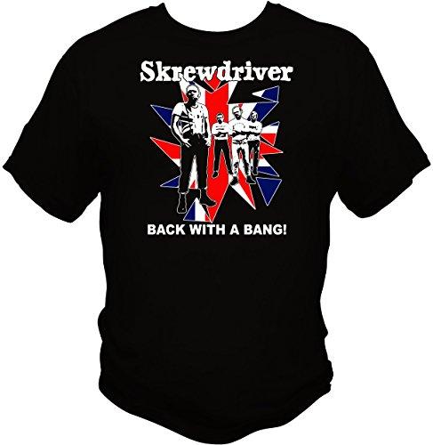 Men's Skrewdriver Rock Band Eagle Badge Zipper Hooded Sweatshirt ...
