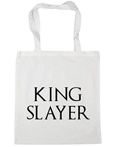 HippoWarehouse King Slayer Tote Compras Bolsa de playa 42cm x38cm, 10litros blanco