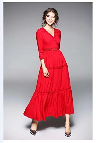 1 Y Con De Impresión Delgado Vestido JIALELE Fina Chiffon Cintura Fiesta Fiesta Vestido Mujer vORqYa