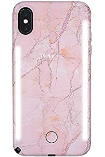 timeless design 694c6 81e56 Amazon.com: LuMee Duo Selfie Phone Case, Rose | Front & Back LED ...