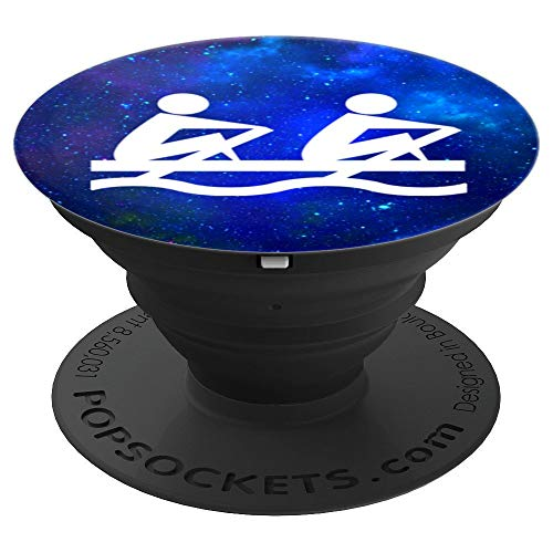 Rowing Boat Pop Socket Deep Space Rowboats Cosmic Blue - PopSockets Grip and Stand for Phones and Tablets