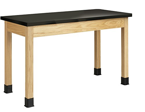 Diversified Woodcrafts P7102K30NX10 Table, Plain, Chemguard Laminate Top,  30'' Height,  24'' Width,  48'' Length,  North woods Oak/Black (Pack of 10) by Diversified Woodcrafts