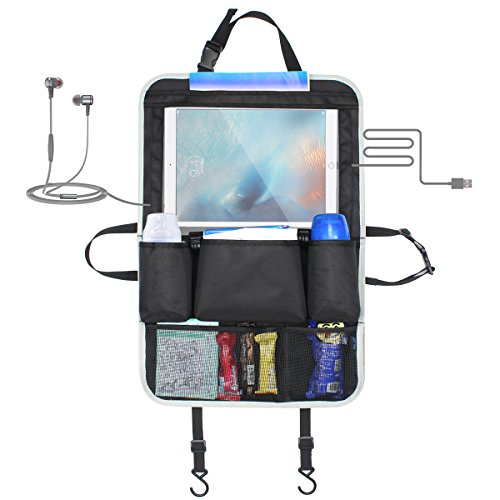Elzo [Touch Screen Tablet Holder] E353 Car Backseat Organizer -- Travel, Trip (Car Seat Covers Monster High)