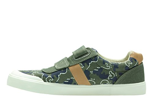 Clarks Comic Zone Inf, Scarpe stringate donna verde Green