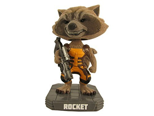 (Limited Edition Guardians of the Galaxy Flocked Rocket Raccoon - Wacky Wobbler - HMV)