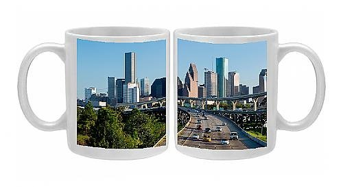 Photo Mug of City skyline, Houston, Texas, United States of America, North America by Robert Harding by Robert Harding